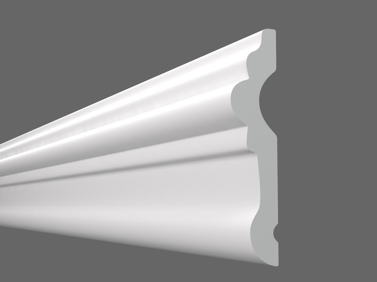 Потолочный плинтус U-50 (Размер:15х55мм)